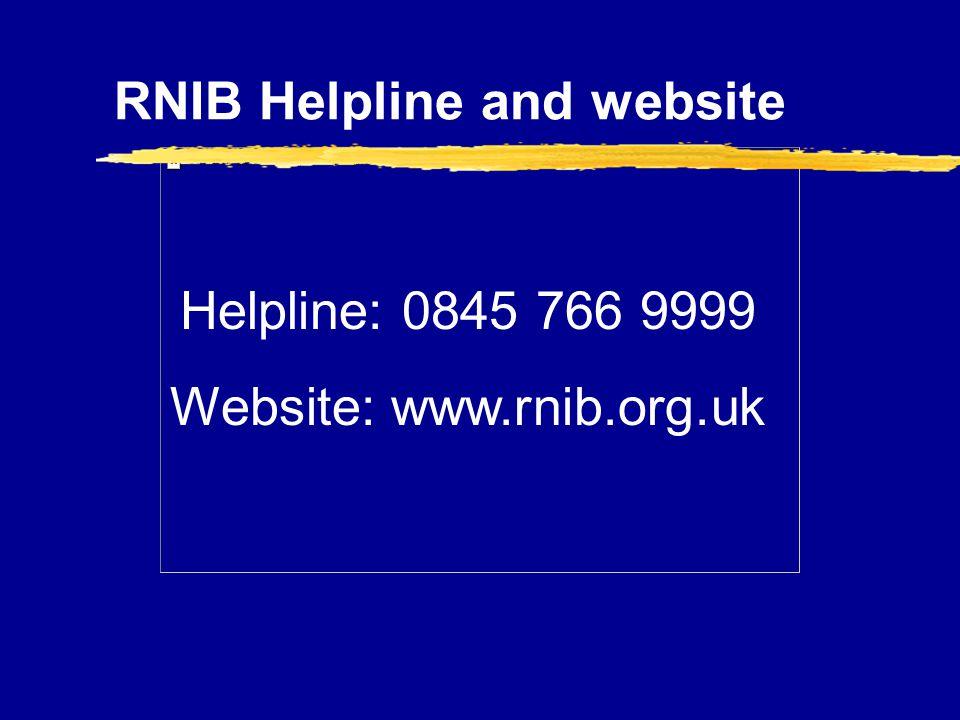 RNIB Helpline and website