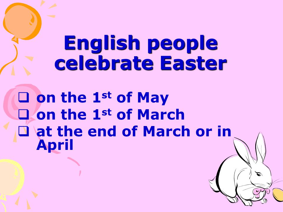 English people celebrate Easter