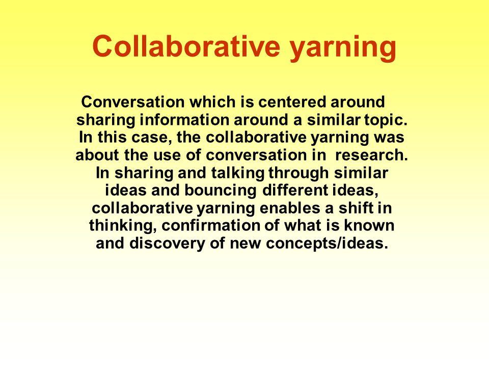 Collaborative yarning