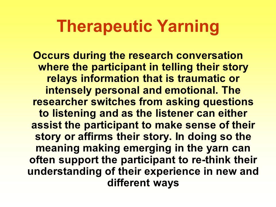 Therapeutic Yarning