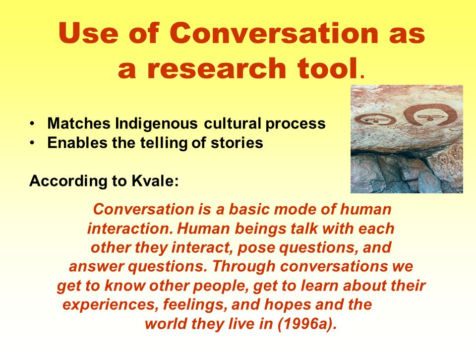 Use of Conversation as a research tool.
