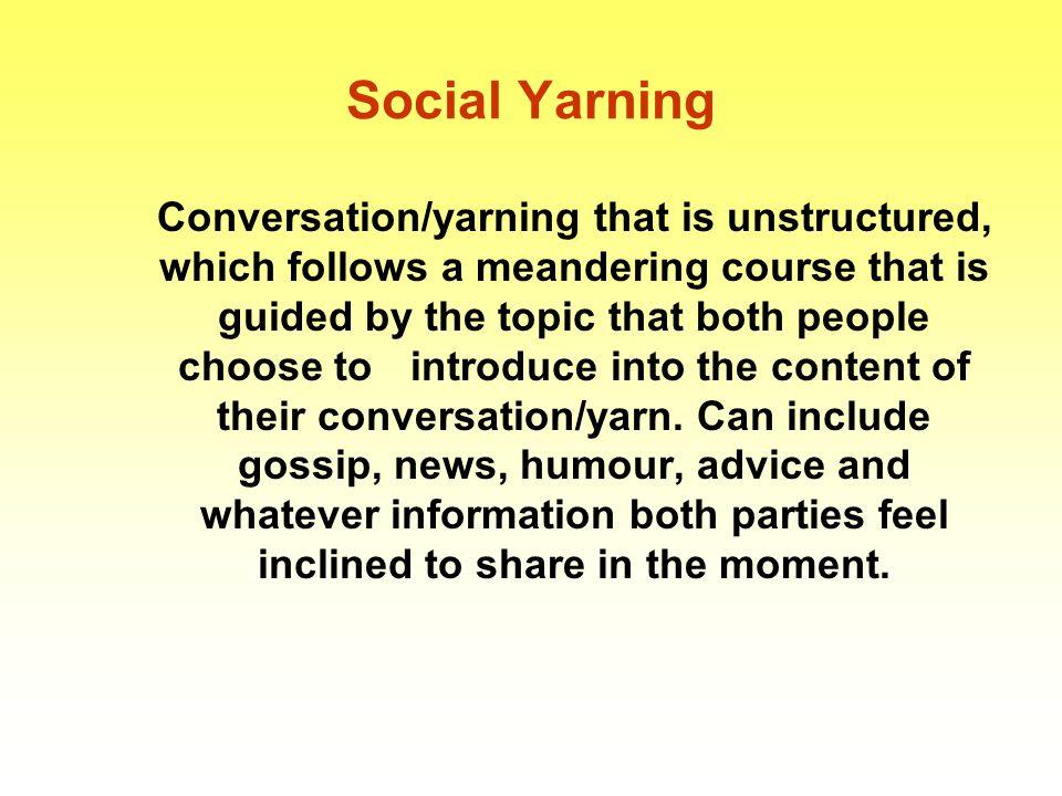 Social Yarning
