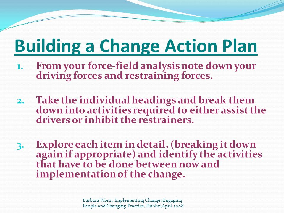 Building a Change Action Plan