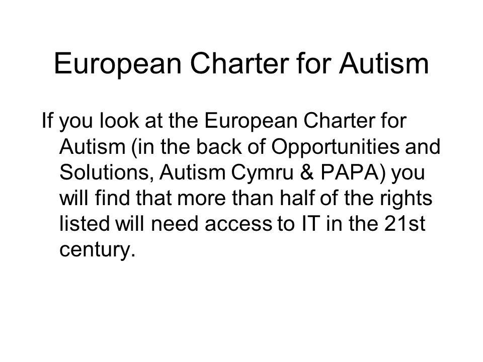 European Charter for Autism