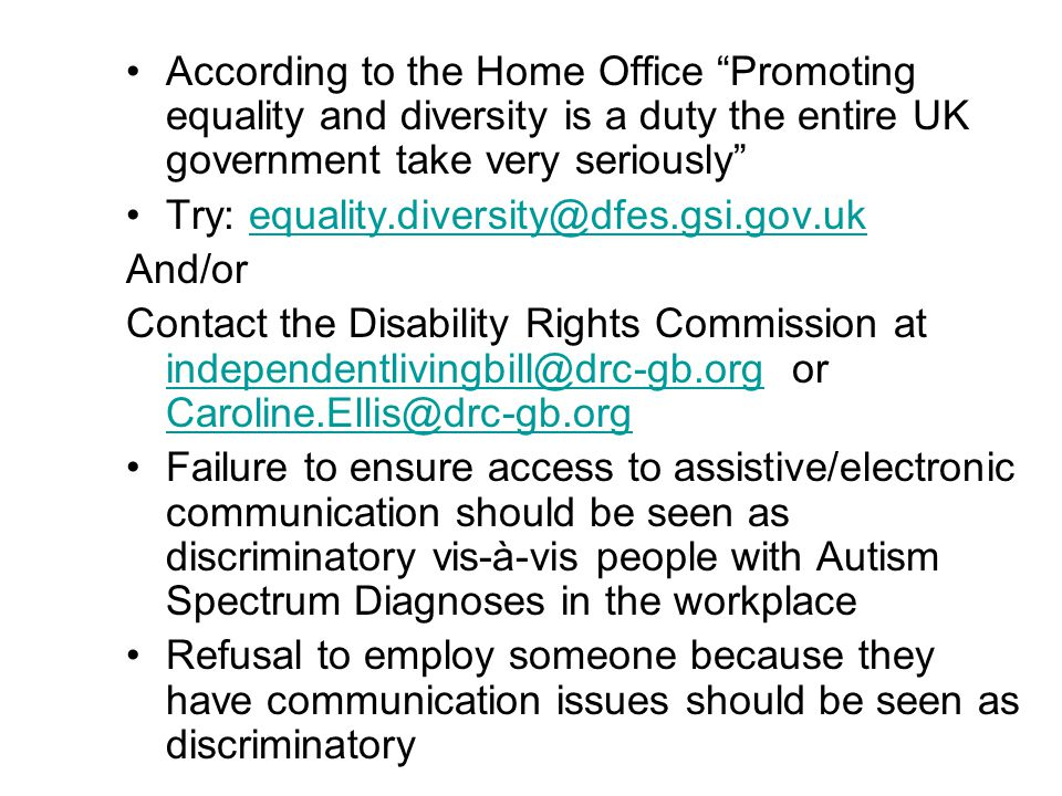 According to the Home Office Promoting equality and diversity is a duty the entire UK government take very seriously