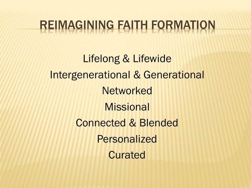 Reimagining faith formation