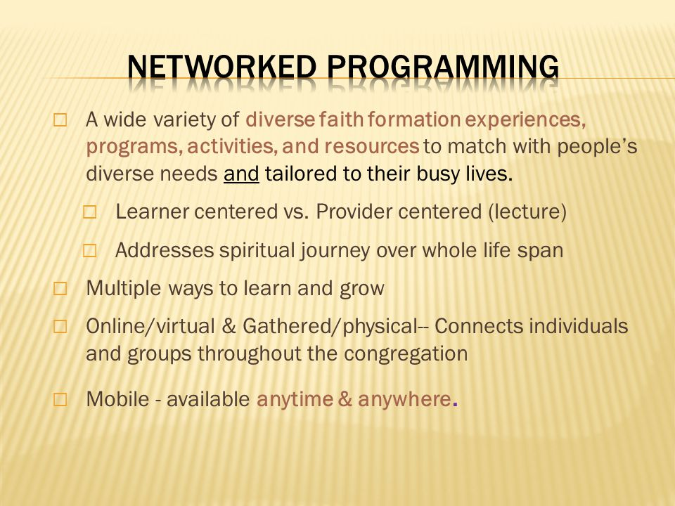 Networked Programming
