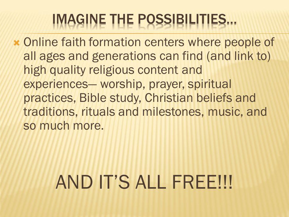 Imagine the Possibilities…