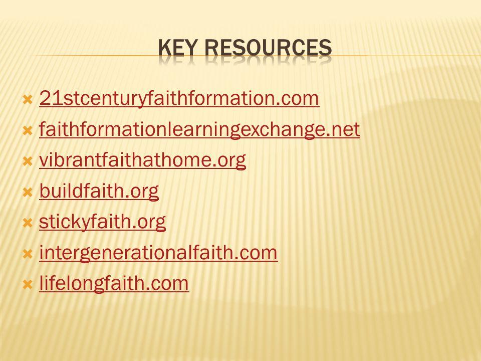 Key resources 21stcenturyfaithformation.com