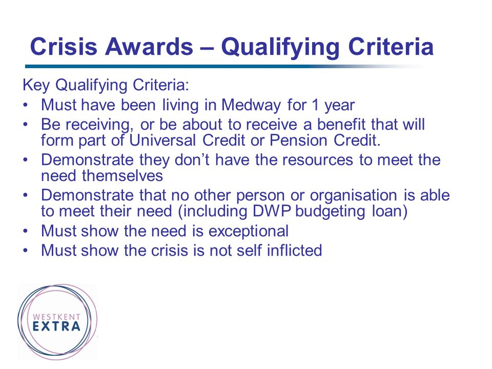 Crisis Awards – Qualifying Criteria