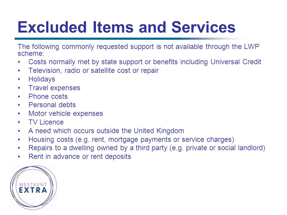 Excluded Items and Services
