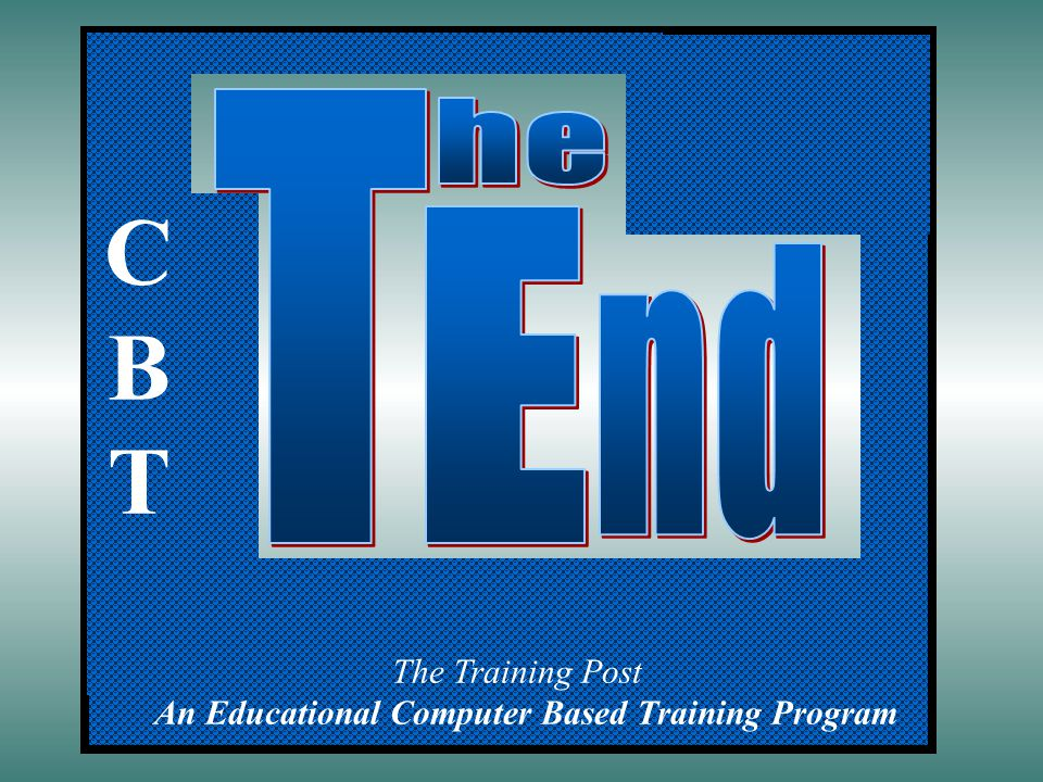 An Educational Computer Based Training Program