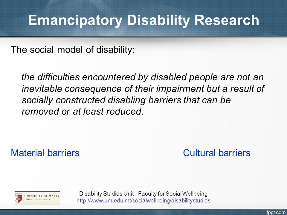 Emancipatory Disability Research