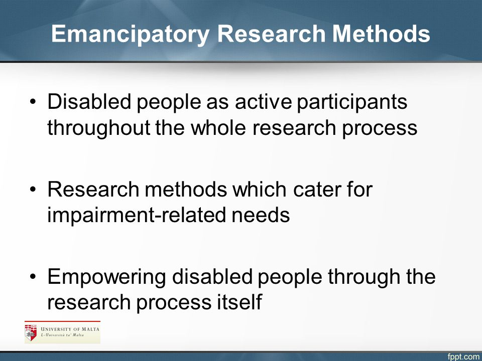 Emancipatory Research Methods