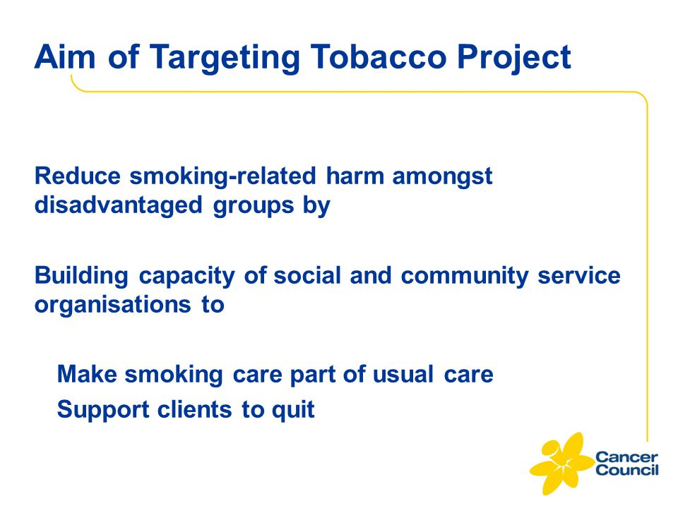 Aim of Targeting Tobacco Project