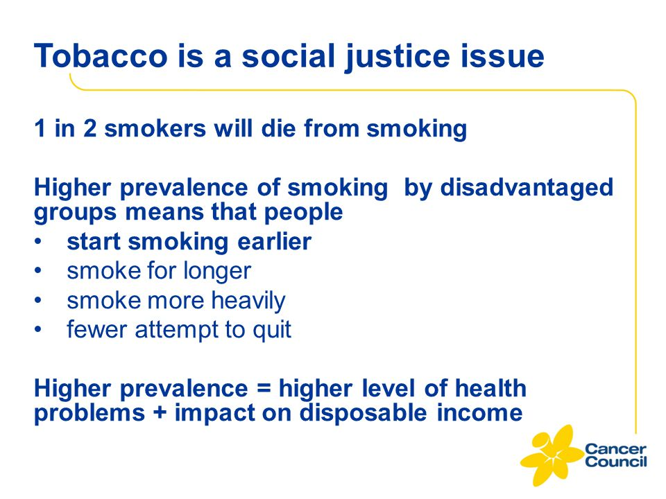 Tobacco is a social justice issue