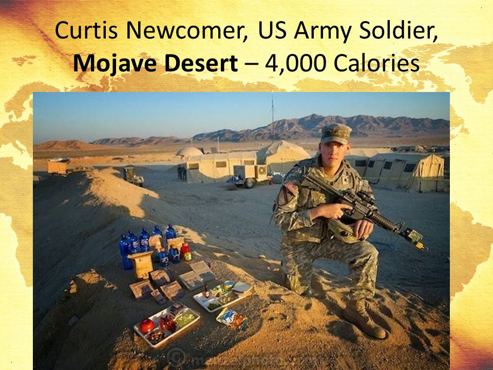 Curtis Newcomer, US Army Soldier, Mojave Desert – 4,000 Calories