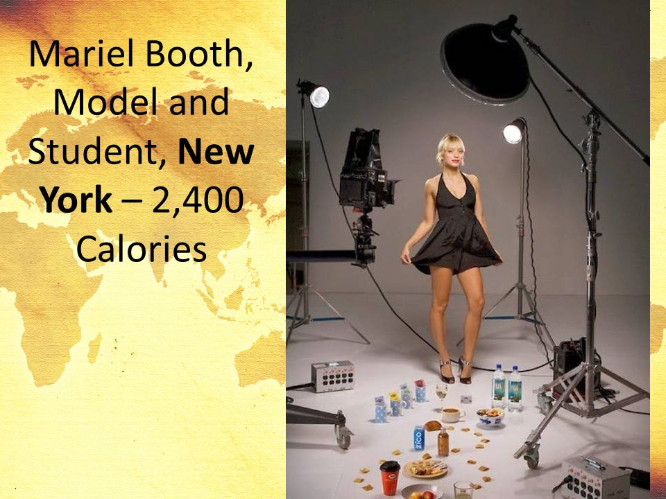 Mariel Booth, Model and Student, New York – 2,400 Calories