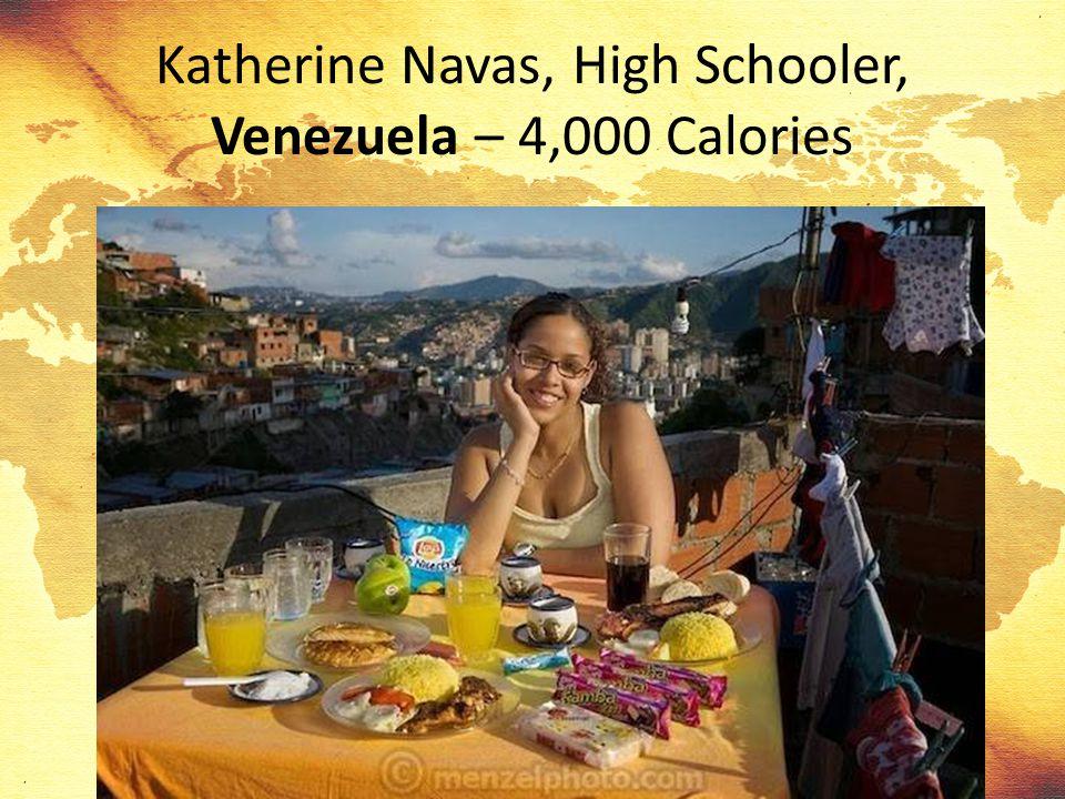 Katherine Navas, High Schooler, Venezuela – 4,000 Calories