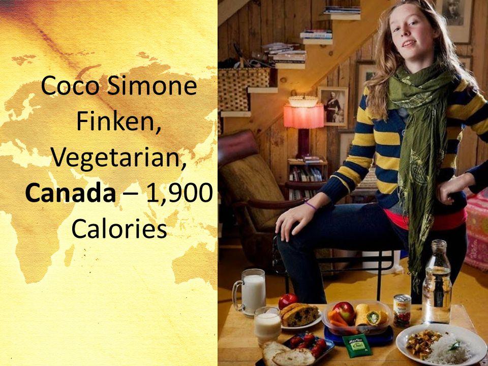 Coco Simone Finken, Vegetarian, Canada – 1,900 Calories