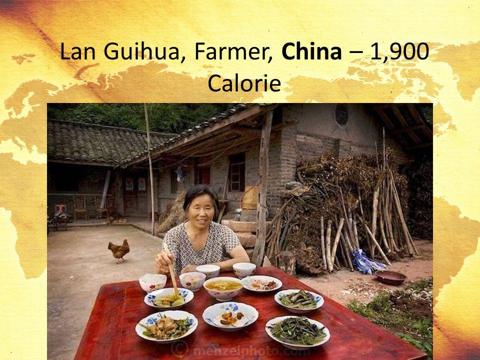 Lan Guihua, Farmer, China – 1,900 Calorie