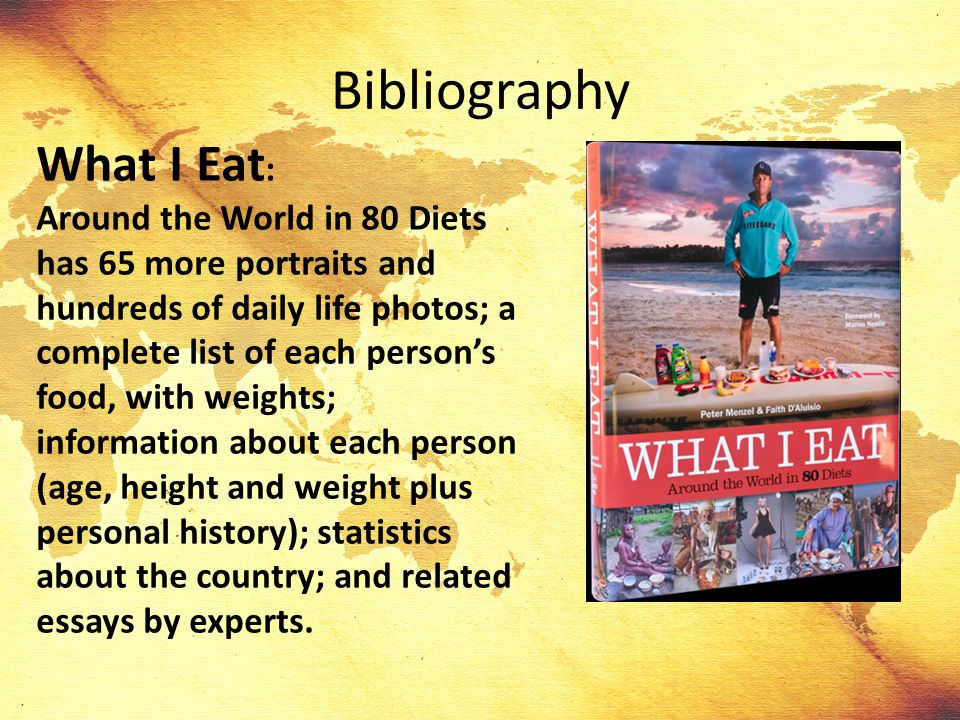 Bibliography What I Eat: