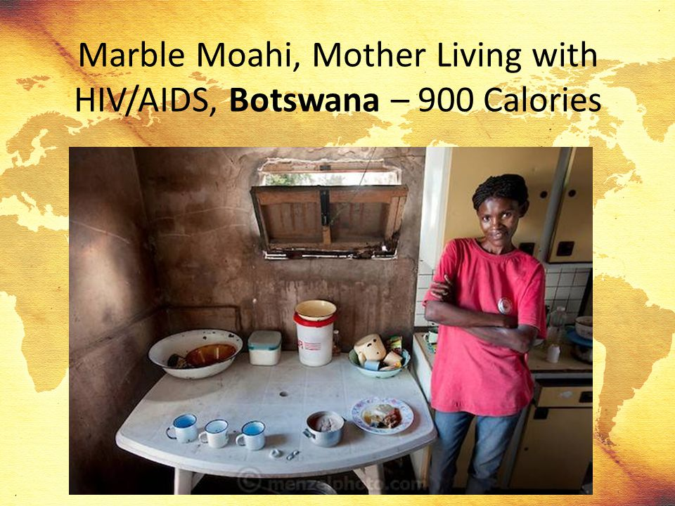 Marble Moahi, Mother Living with HIV/AIDS, Botswana – 900 Calories