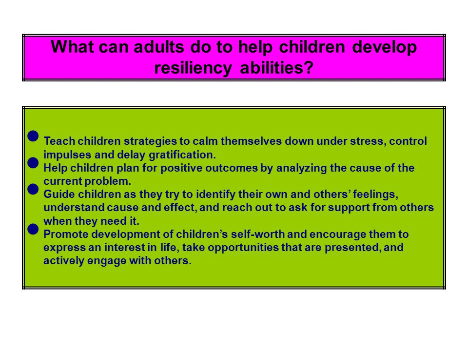 What can adults do to help children develop