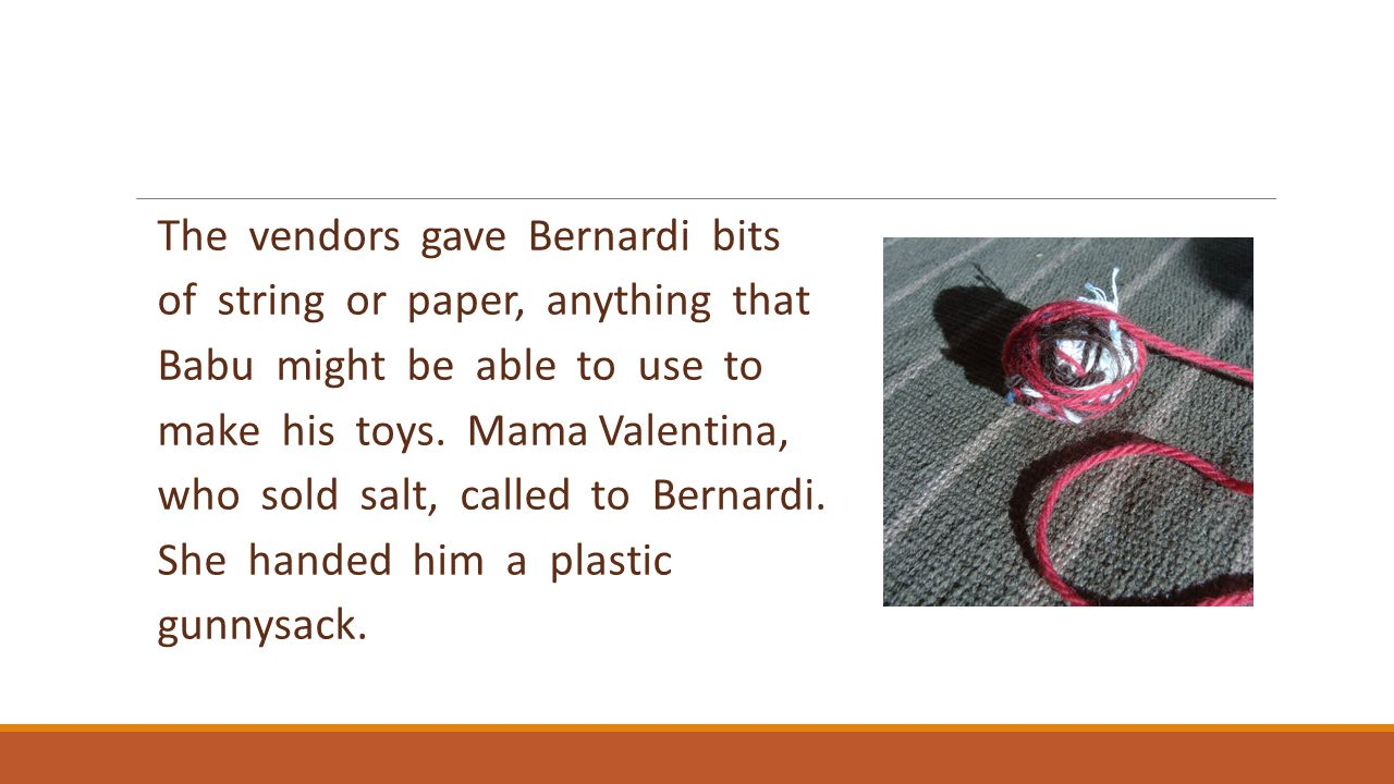 The vendors gave Bernardi bits