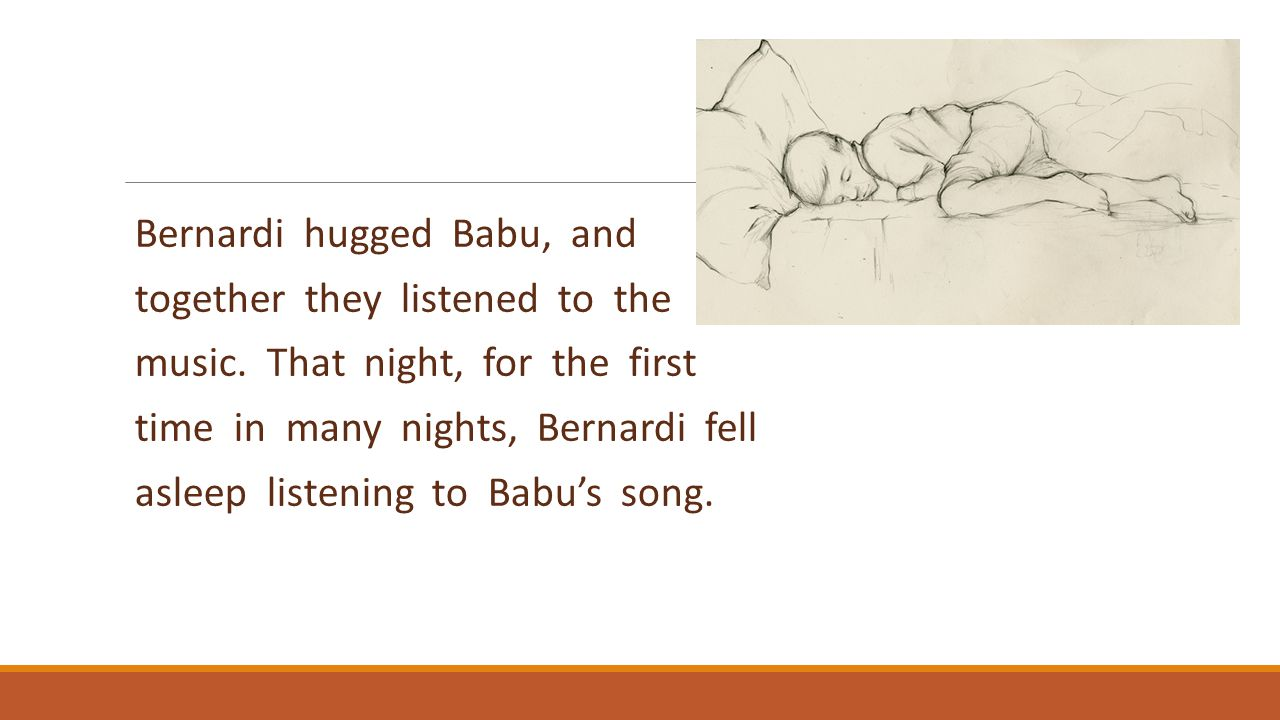 Bernardi hugged Babu, and