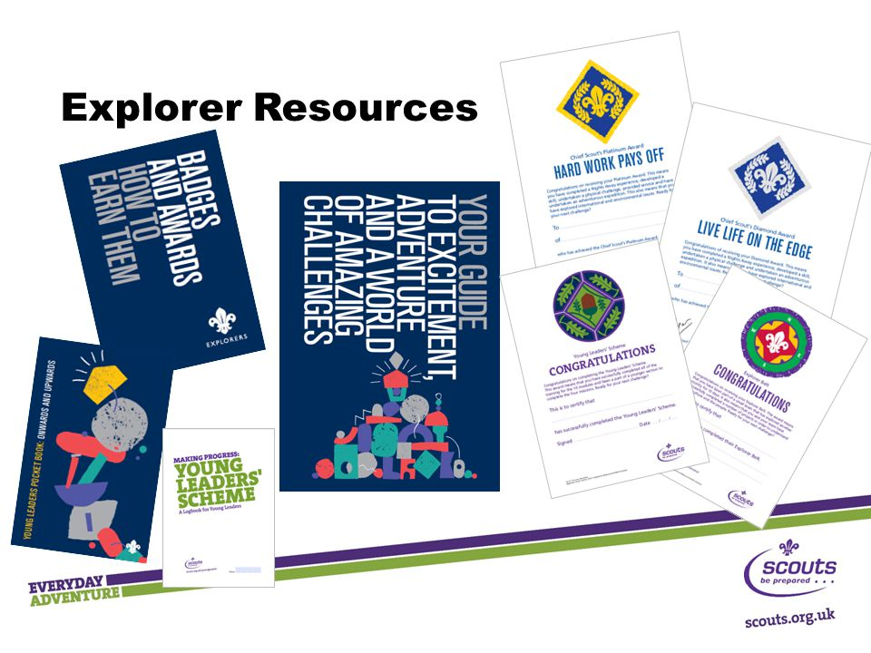 Explorer Resources These are the new resources for Explorers (ie. Young people)