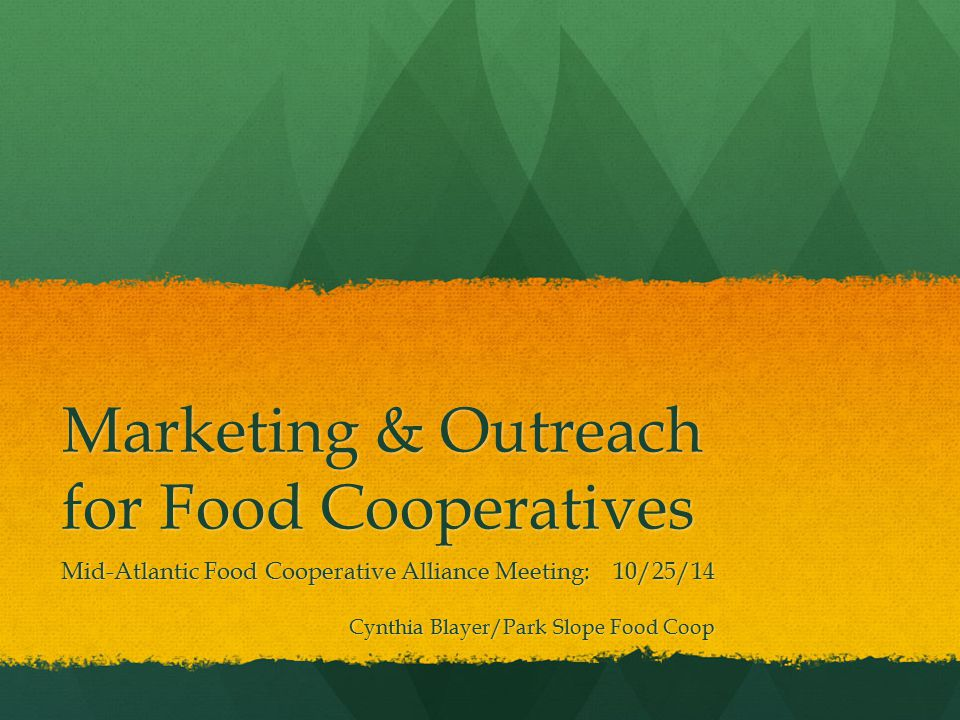 Marketing & Outreach for Food Cooperatives