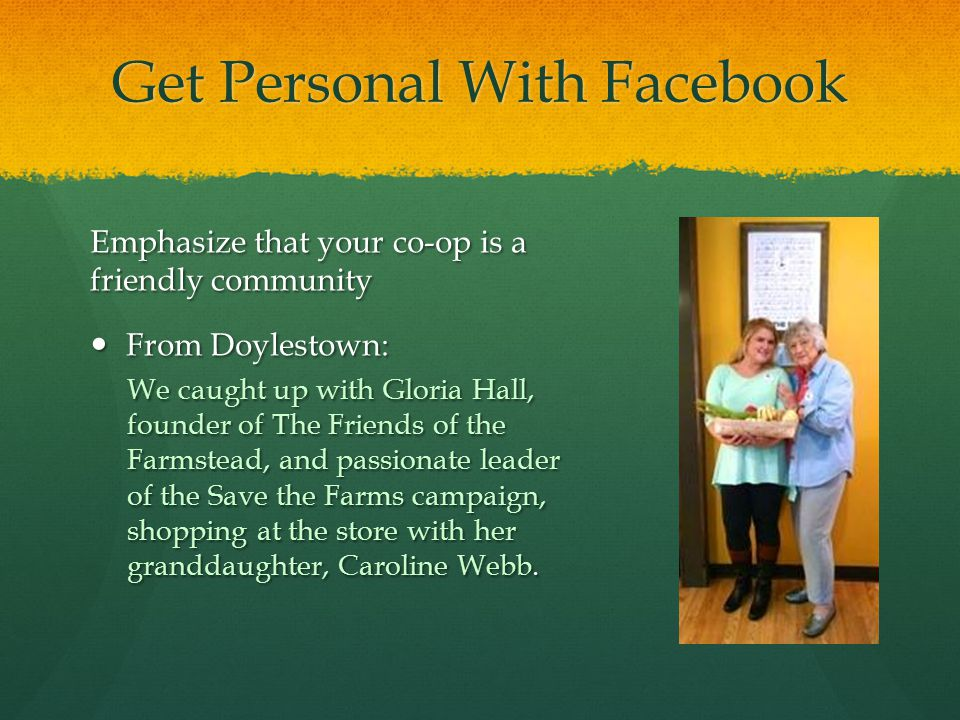 Get Personal With Facebook