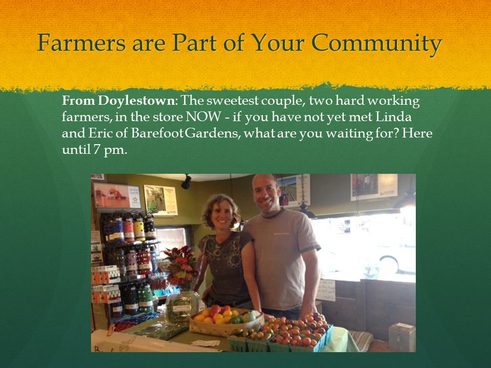 Farmers are Part of Your Community