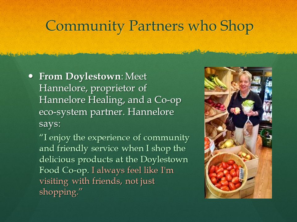 Community Partners who Shop