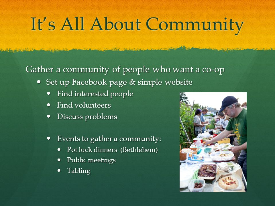 It's All About Community