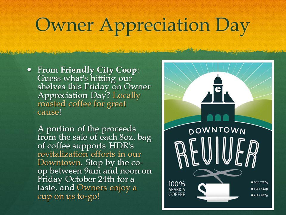 Owner Appreciation Day