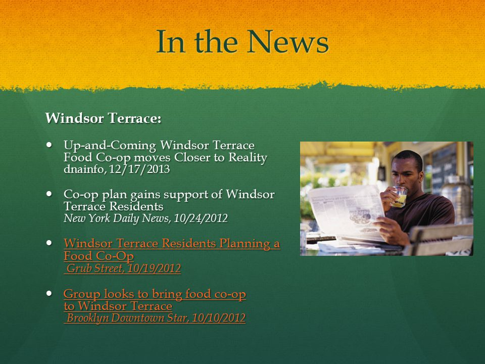 In the News Windsor Terrace: