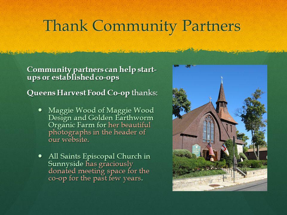 Thank Community Partners