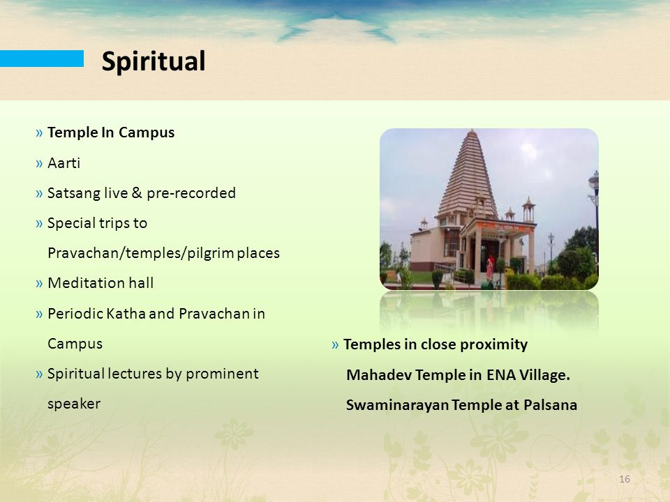 Spiritual Temple In Campus Aarti Satsang live & pre-recorded