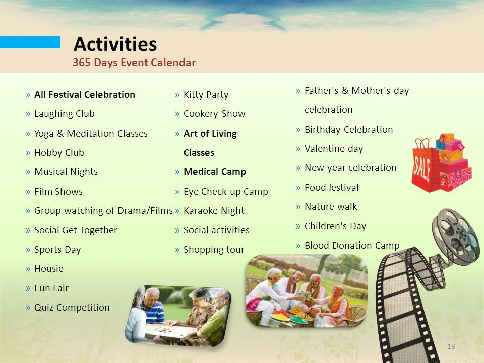 Activities 365 Days Event Calendar Father s & Mother s day celebration