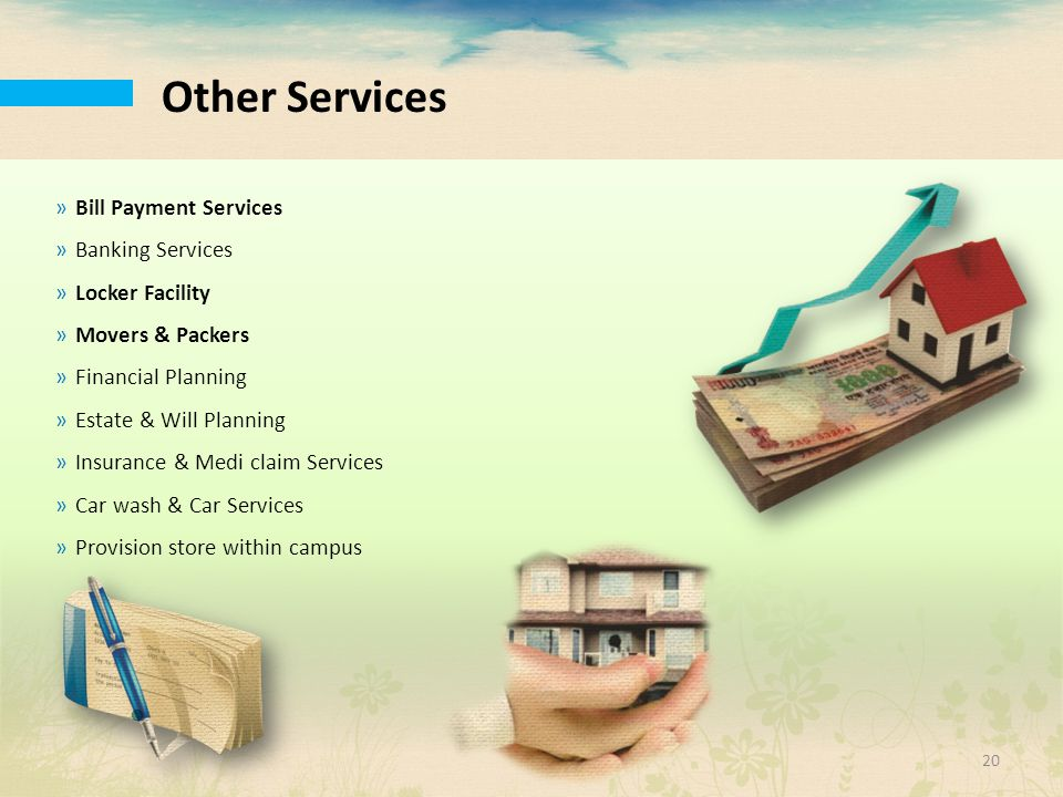 Other Services Bill Payment Services Banking Services Locker Facility