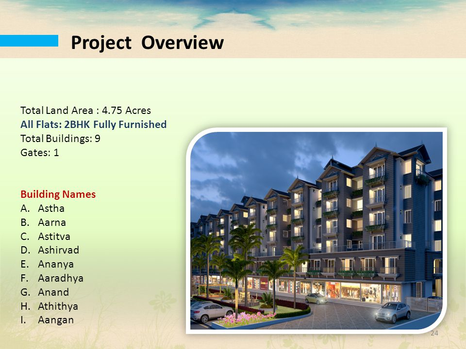 Project Overview Total Land Area : 4.75 Acres