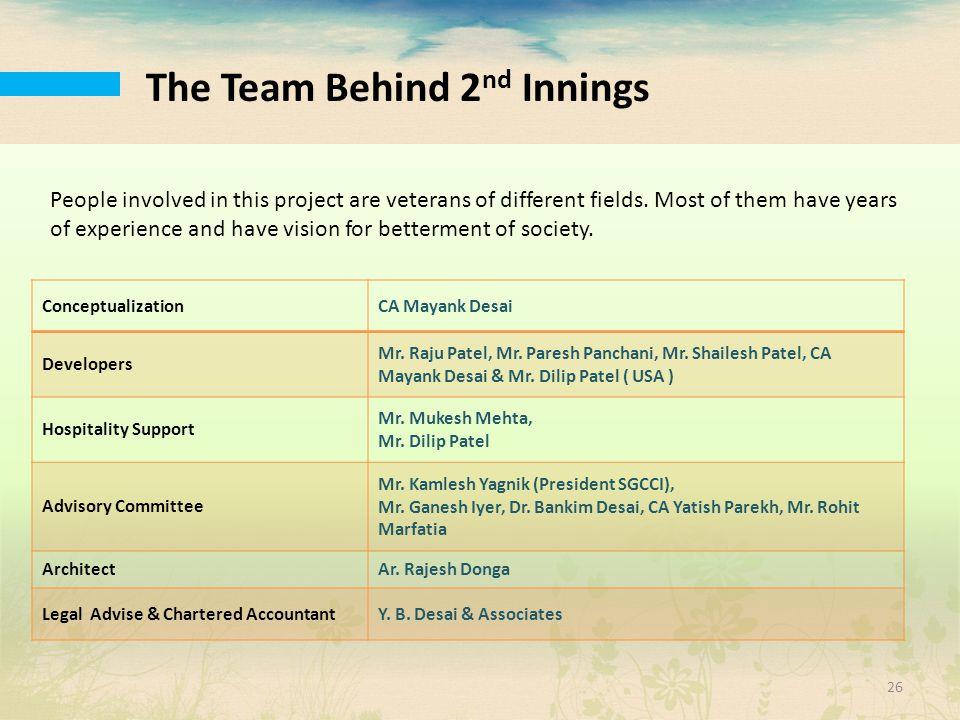 The Team Behind 2nd Innings