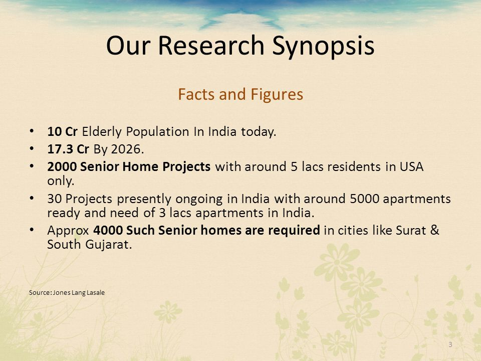Our Research Synopsis Facts and Figures