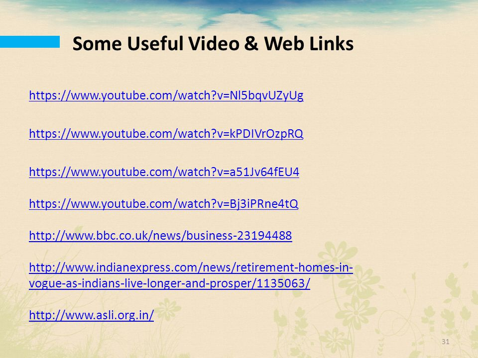 Some Useful Video & Web Links
