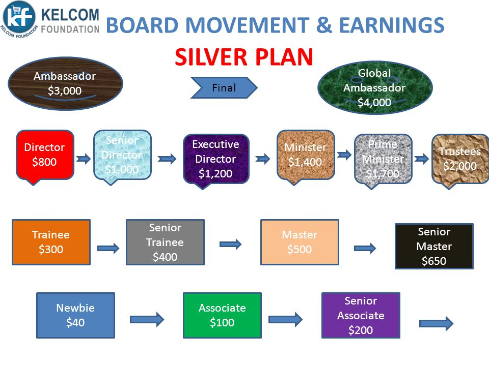 BOARD MOVEMENT & EARNINGS SILVER PLAN