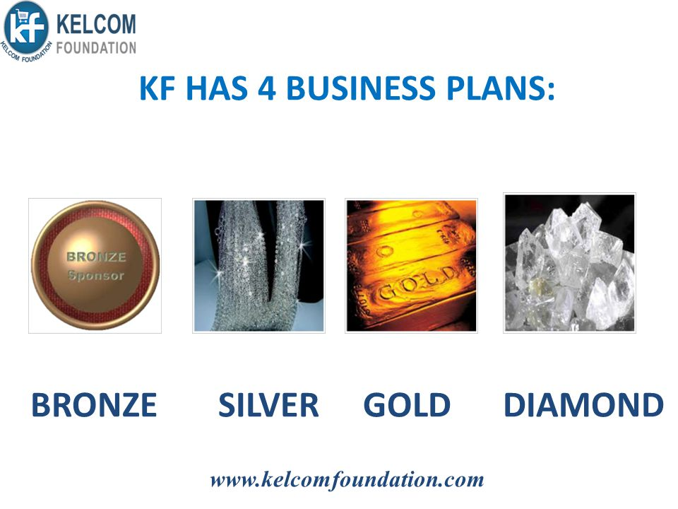 KF HAS 4 BUSINESS PLANS: BRONZE SILVER GOLD DIAMOND www