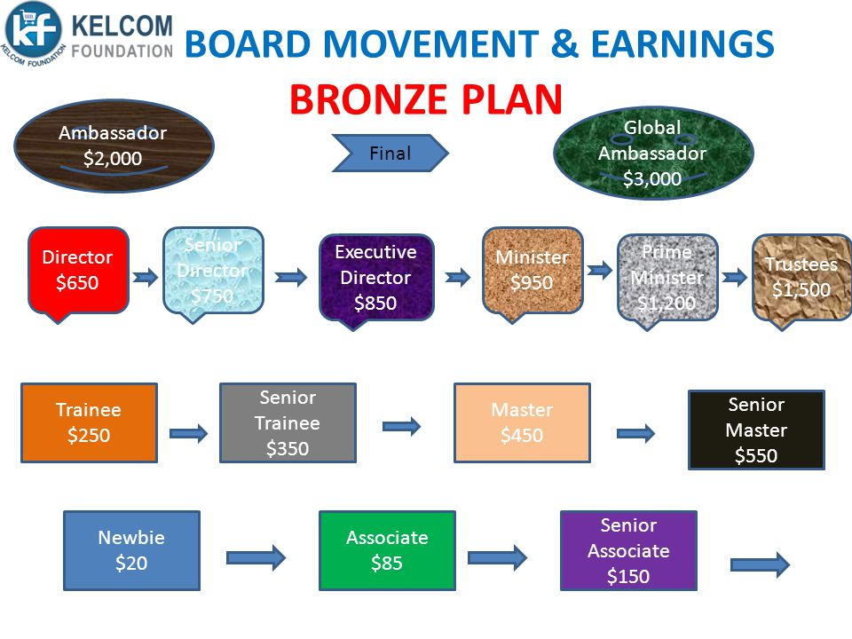 BOARD MOVEMENT & EARNINGS BRONZE PLAN