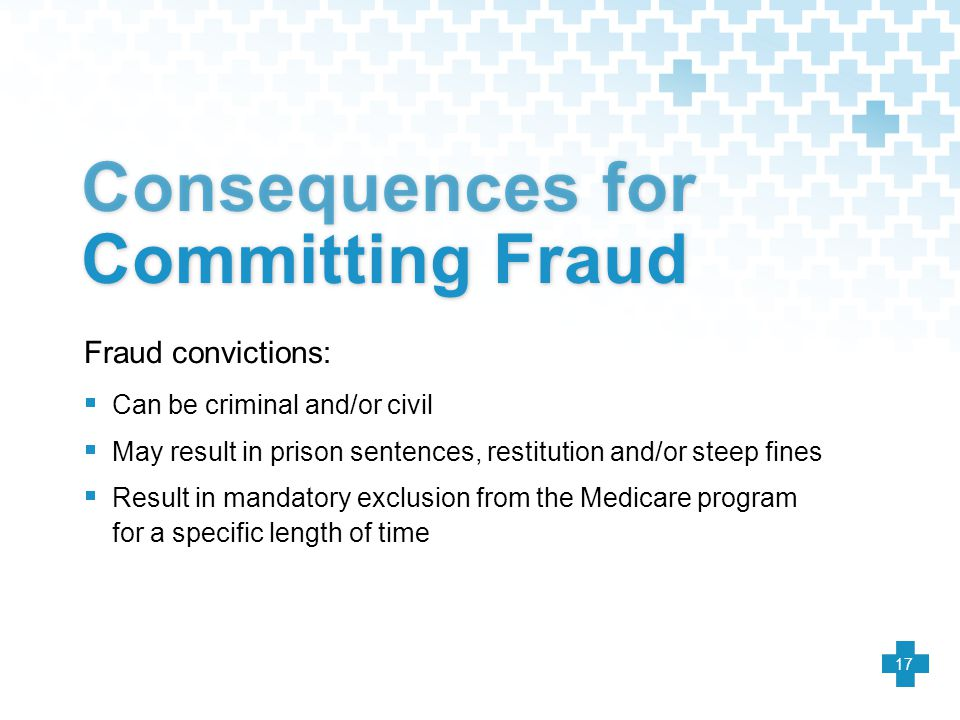 Consequences for Committing Fraud